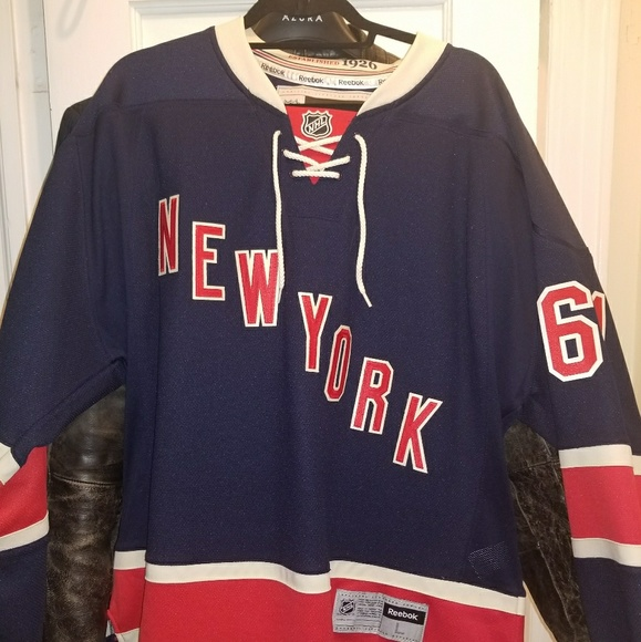 buy popular 3d971 3b157 New York Rangers Heritage Rick Nash Jersey Large L